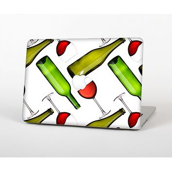 The Red Wine Bottles and Glasses Skin for the Apple MacBook Air 13""