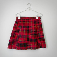 Handmade Vintage Tartan Skirt by OakandHickory on Etsy