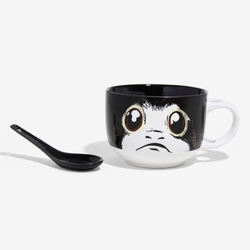 Licensed cool Disney Star Wars: The Last Jedi PORG Ceramic Soup Mug With Spoon Set Licensed