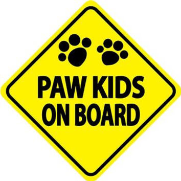 Paw Kids on Board Car Window Decal