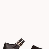 FOREVER 21 Modernist Buckled Flats