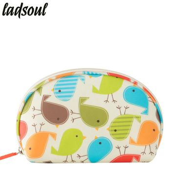 LADSOUL 2018 Fashion Cosmetic Bag High Quality Makeup Cotton Fabric Ladies Organizer Bags Casual Portable Storage Bags A1583/g