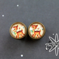 Little deer fawn 10mm 00G plugs bodmod gauges cute animal