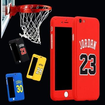 DCCK1IN for iphone 6 case 360 kobe bryant curry full body case for iphone 7 plus 6 6s plus iph  number 6