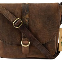 Vintage Handmade Leather Byron Bay Cross Body Bag