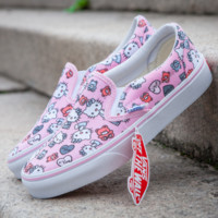 Vance's & Mickey Mouse & Hello Kitty new fashion women animal print shoes high canvas women shoes Pink