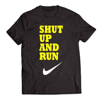 SHUT UP AND RUN nike Clothing T shirt Men