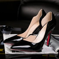 CL Christian Louboutin Women Pointed Toe Heels Shoes