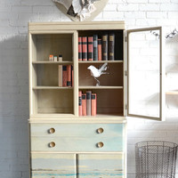 Kallymenia- Collaborative Cream Hutch with Original Sea Scape by Annie Koelle