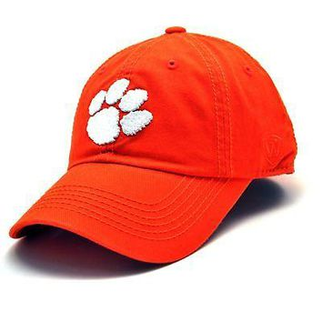 Licensed Clemson Tigers Official NCAA Adult Hat Cap Clemson by Top Of The World 231136 KO_19_1