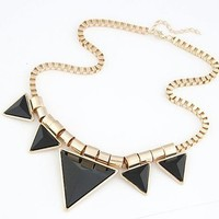 Women's Triangle Necklace Bib Necklace Statement Collar Necklace