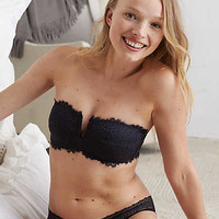 Aerie Lace Strapless Perky Bandeau , True Black