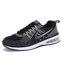 New Fashion Men Women Casual Shoes Trainers Air Mesh Sport Jogging Male Lovers Flats Shoes Breathable 2016 Black