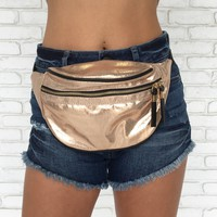 All That Glitters Fanny Pack in Gold
