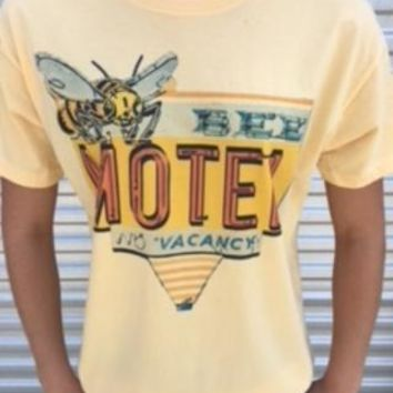 """Gina """"Bee's Motel"""" Embellished Butter Tee"""