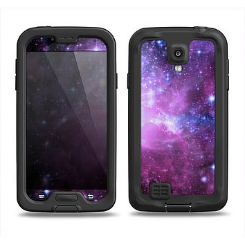 The Violet Glowing Nebula Samsung Galaxy S4 LifeProof Nuud Case Skin Set