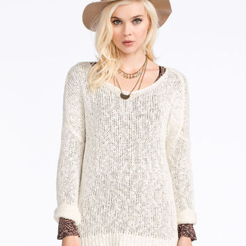 FULL TILT Essential Womens Slouchy Sweater | Essentials