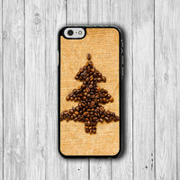 Coffee Beans Christmas Tree iPhone 6/6S Cases Vintage iPhone 5/5S Cover iPhone 4 /4S PVC Rubber Electronics Cases His & Her Christmas Gift