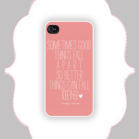 iPhone  Case- Marilyn Monroe Quote- iPhone 4 Case, iPhone 4s Case, iPhone 5 Case, Monogram Case, Personalized iPhone Case