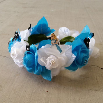 Alice In Wonderland Floral Crown