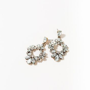 Nancy Crystal Adorned Hoop Earrings
