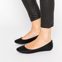 Call It Spring Brevia Black Ballerina Flat Shoes at asos.com