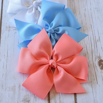 Girls Hair Bows, Hairbows, 6 inch Bows, Large Hair Bows, Pinwheel Hair Bow, Hair Bows, Toddler Hair Bows, Alligator Clips, Bows,Barrette,600