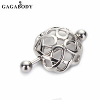 2016 New 1 Pair 316l Surgical Steel Non-Piercing Nipple Ring Shield Clip On Nest Ring Shape Women Body Jewelry