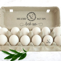 Chicken Egg Carton Stamp - Custom Egg Cartons - Farm Name Stamp - Chicken Coop Egg Carton Stamp - Backyard Chicken Egg Stamper