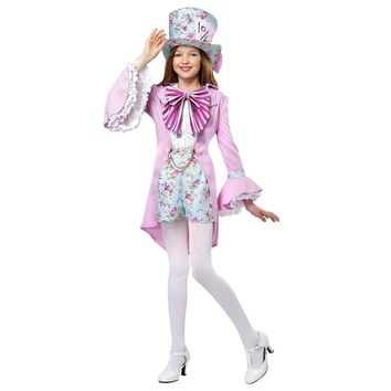 Gorgeous Girls French Inspired Sophisticated Great Alice In Wonderland Halloween Fancy Dress Pretty Mad Hatter Costume