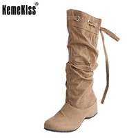 women flat over knee boots ladies riding fashion long snow boot warm winter brand botas footwear shoes P1501 size 34-43
