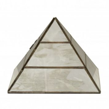 Worlds Away Antique Mirror Pyramid