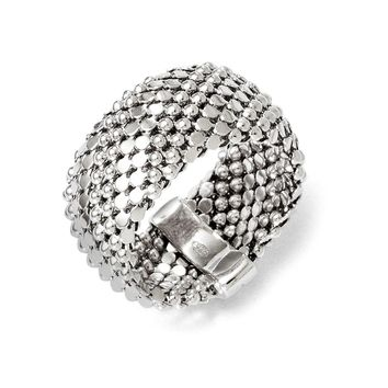 Leslies Sterling Silver Mesh Ring