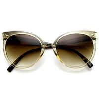 Womens Retro Oversize Round Cat Eye Fashion Sunglasses 9179