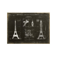 Eiffel Plans Canvas