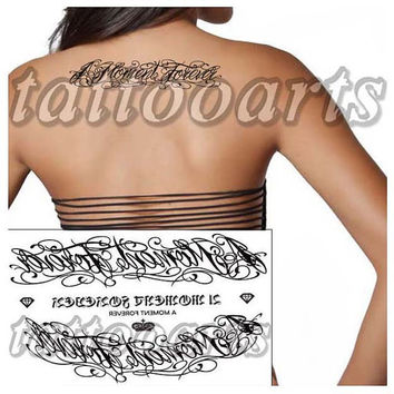 A moment forever cursive lettering tattoo arm leg body art temporary waterproof woman transfer sticker #9178
