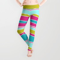 Lily Pad Leggings by Brains Are Pretty - Caroline Okun