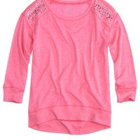 Embellished Shoulder Sweatshirt | Girls Tops & Tees Clothes | Shop Justice