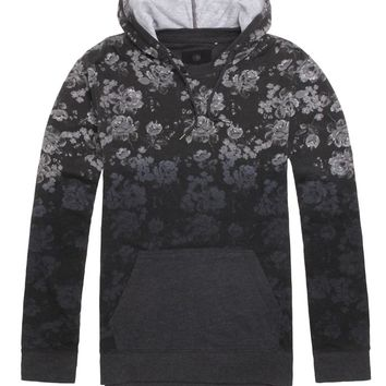 On The Byas Harris Floral Hooded Long Sleeve Shirt - Mens Shirt - Black