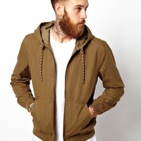 ASOS Hooded Bomber Jacket - Tobacco