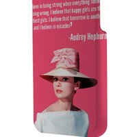 Best 3D Full Wrap Phone Case - Hard (PC) Cover with Audrey Hepburn Quotes poster Design