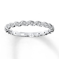 Diamond Ring 1/10 ct tw Round-cut 14K White Gold