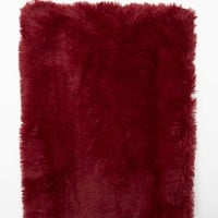 Burgundy Faux Fur Shag Blanket | Blankets & Throws | rue21