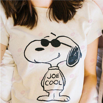 Snoopy T-shirt Round collar cultivate one's morality fashion