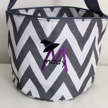 Personalized Witch's Hat Trick or Treat Bag