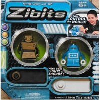 Remote Control Miniature Robots - Zibits Mini R/C Robots 2-Pack (Styles May Vary)