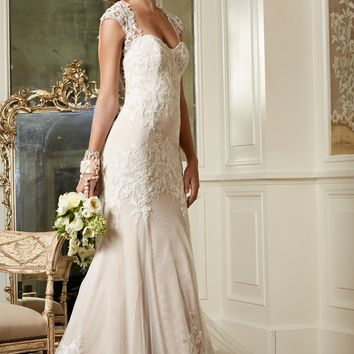 Wtoo by Watters Julienne 13721 Fit and Flare Lace Wedding Dress