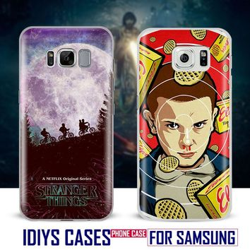 For Samsung Galaxy S4 S5 S6 S7 Edge S8 Plus Note 2 3 4 5 C5 C7 A8 A9 Stranger Things Popular TV series Phone Case Shell Cover