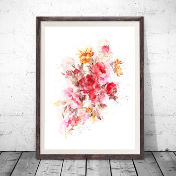 Peony Print, Peony Painting, Peony Art, Peony Watercolor, Pink Peonies, Watercolor Peonies, Peonies Wall Art, Watercolor Flowers, Art Print