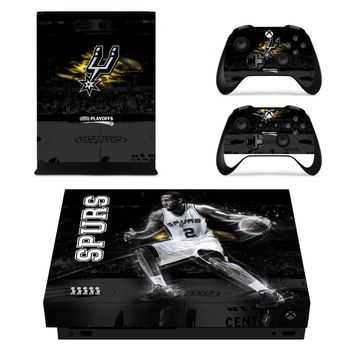 San Antonio Spurs: Vinyl Skin Decal for XBox One Console and 2 controllers